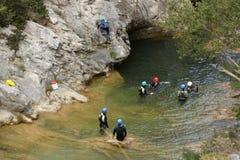 canyoning Stockfoto
