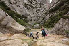 canyoning Photographie stock