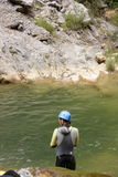canyoning Photo libre de droits