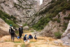 canyoning Images libres de droits
