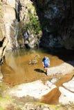 canyoning Fotografie Stock