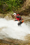 Canyoning Adventure Waterfall Descent Stock Images