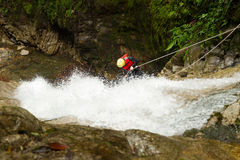 Canyoning Adventure Waterfall Descent Stock Photography