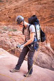 Canyoning in Arizona Royalty Free Stock Photo