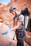Canyoning in Arizona Stock Photography