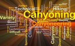 Canyoning background concept glowing Stock Photography