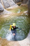 Canyoning in Spain Stock Photography