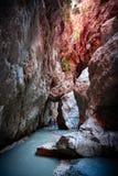Canyoning i den Saklikent klyftan Royaltyfria Foton