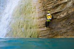 Canyoning na Espanha Fotografia de Stock