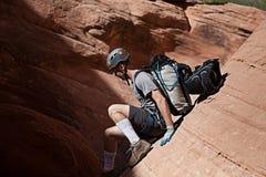 Canyoning no Arizona Imagens de Stock