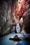Canyoning in Saklikent Gorge Royalty Free Stock Photos