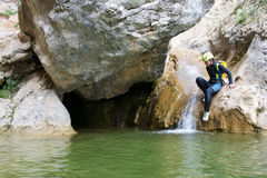 Canyoning in Spain Royalty Free Stock Images