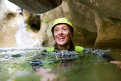 Canyoning in Spain Royalty Free Stock Image