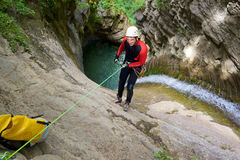 Canyoning in Spain Stock Image