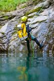 Canyoning in Spanien Stockfoto