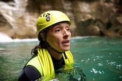 Canyoning in Spanien Stockbilder