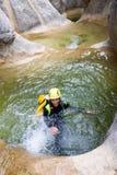 Canyoning in Spanien Stockfotografie