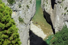 Canyoning in Verdon Lizenzfreie Stockfotos