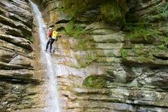 Canyoning w Hiszpania Fotografia Royalty Free