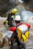 Canyoning w Hiszpania Obrazy Stock