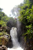 Canyoning waterfall decent Vietnam Royalty Free Stock Images