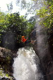 Canyoning waterfall decent Vietnam Stock Images