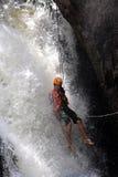 Canyoning waterfall decent Vietnam Stock Photos