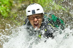 Canyoning Waterfall Descent Stock Photos