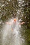 Canyoning Waterfall Jump Royalty Free Stock Photography