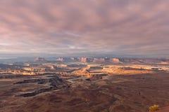 Canyonland Nationaal Park in de Staat van Utah Royalty-vrije Stock Afbeeldingen