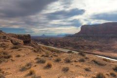 Canyonlands全国公园白的外缘路 库存图片