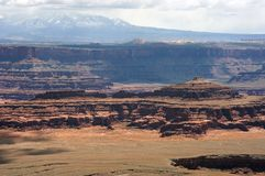 canyonlands国家俯视的公园 库存照片