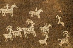 canyonlands国家公园刻在岩石上的文字 库存图片