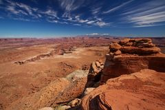 Canyonlands国家公园壮观的风景在犹他,美国 免版税库存图片