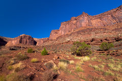canyonlands国家公园外缘路犹他白色 免版税库存图片