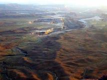 绿河俯视Canyonlands国家公园 库存照片