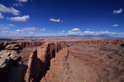 Canyonlands地区,默阿布,犹他 免版税图库摄影