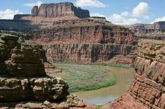 canyonlands科罗拉多国家公园河 图库摄影
