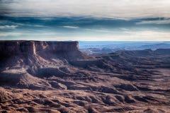 Canyonlands,以交错排列想象力的变化 免版税图库摄影