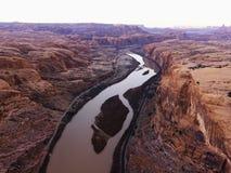 canyonlands ποταμός Utah Στοκ Φωτογραφία