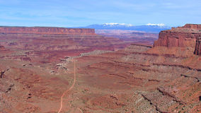 canyonlands дорога нигде к Стоковые Фото
