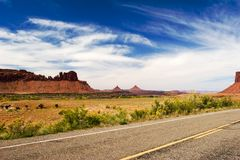 Canyonlands. Open road, Canyonlands national park, Utah Royalty Free Stock Photos