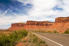 Canyonlands. Open road, Canyonlands national park, Utah Stock Photos