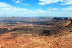 Περιοχή βελόνων στο εθνικό πάρκο Canyonlands, Γιούτα στοκ εικόνες