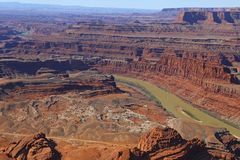 Canyonlands and the Colorado River, Utah stock image