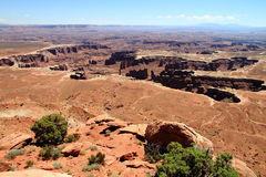 Canyonlands: crater of stone monuments and pillars Stock Images