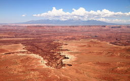 Canyonlands: crater of stone monuments and pillars Stock Photo