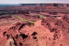Canyonlands ed il fiume Colorado, Utah fotografia stock
