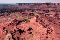 Canyonlands et le fleuve Colorado, Utah photo stock