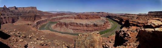 Canyonlands Gooseneck Overlook Panorama Royalty Free Stock Photography